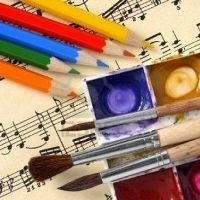 5636616-color-pencils-and-paints-with-brushes-on-t-200x200